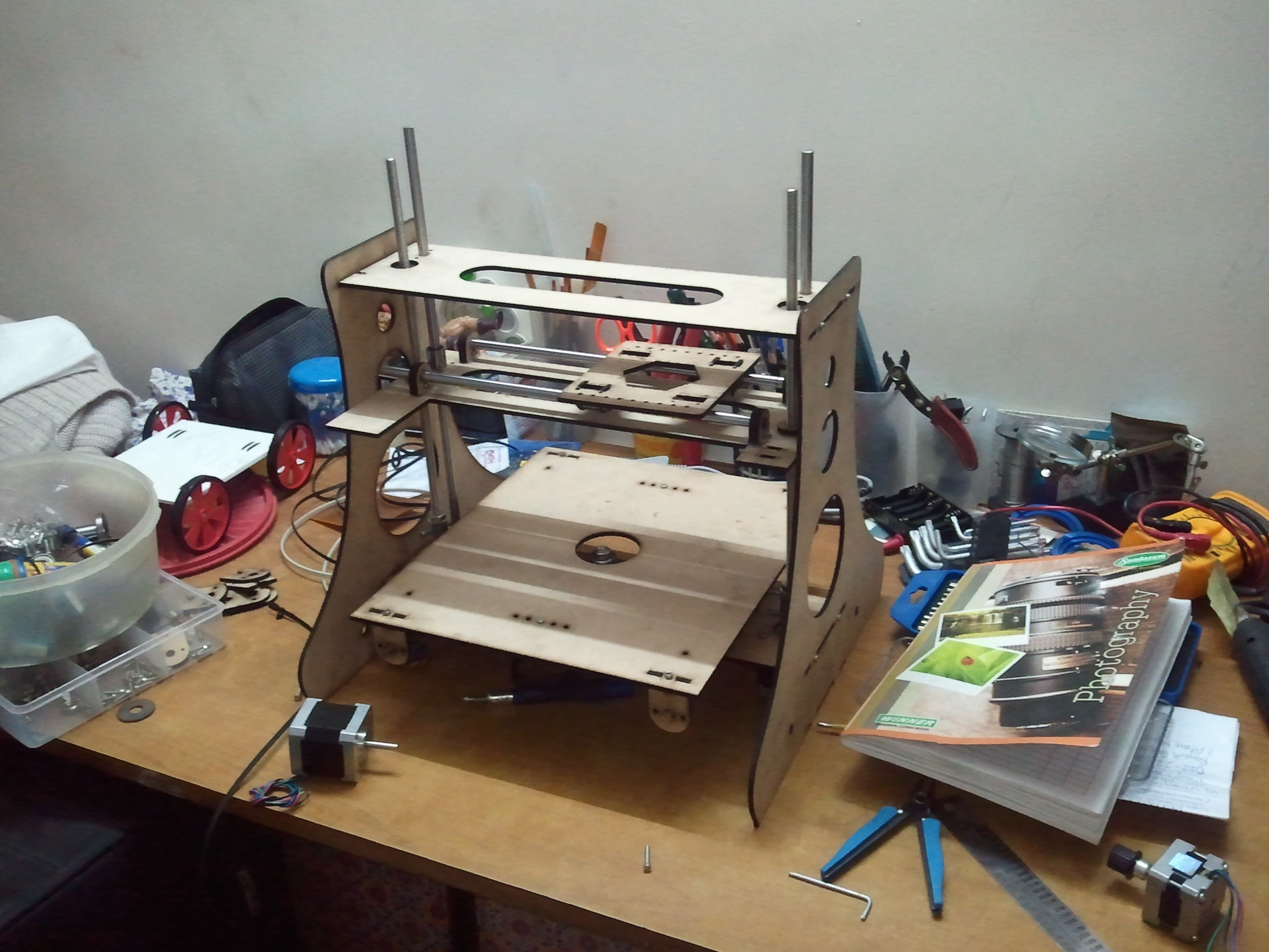 how to build rack from a 3d printer