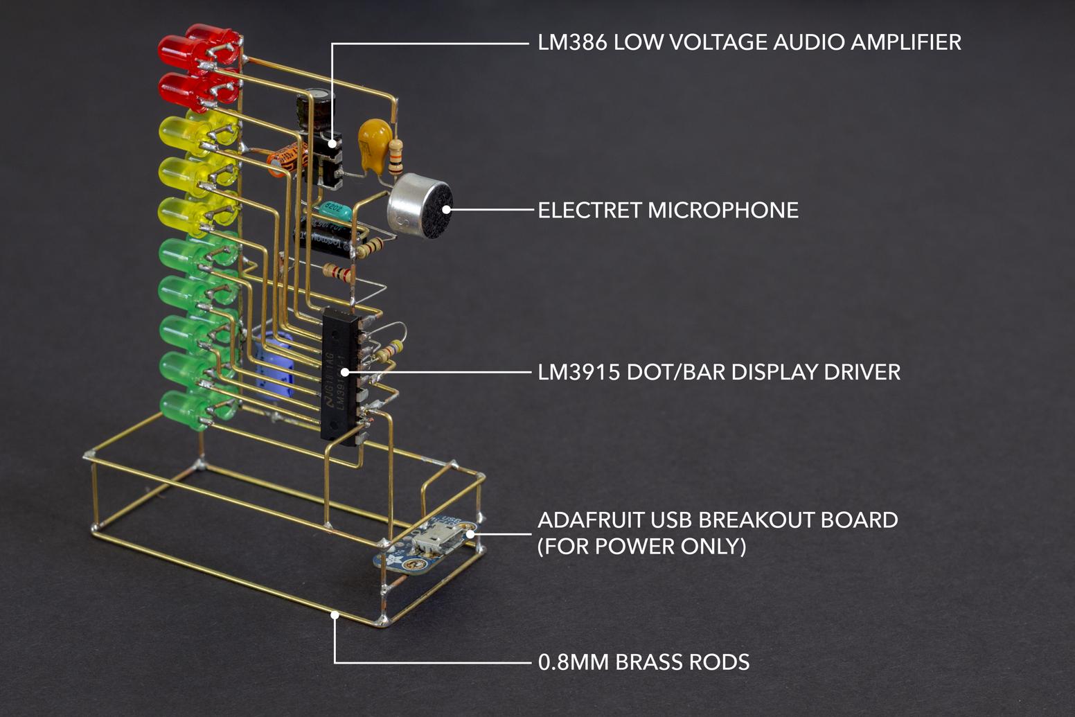 Lm3915 Vu Meter Mohit Bhoite Low Power Audio Amplifier Circuit Diagram Using Lm386 Mohitbhoite